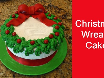 Easy to Decorate Christmas Wreath Cake