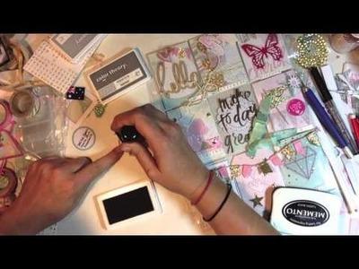 Heidi Swapp Inspired Pocket Letter Process Video