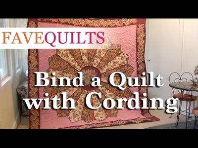 How to Bind a Quilt with Cording