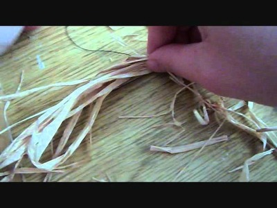 How To Decorate Your Dollhouse For Halloween.Thanksgiving With Raffia