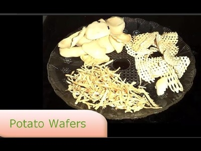 How To Make Potato Wafers At Home | By Indian Vegetarian Recipe