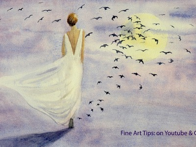 How to Paint From the Imagination - Watercolor Fantasy Art - Painting Birds