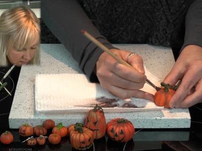Polymer Clay Tutorial - How to Make halloween pumpkins