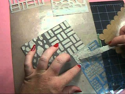 Tutorial - Using Molding Paste with Stencils