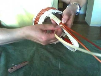 Basket Weaving Video #19a - Wrapping a Decorative Handle and Splicing the Wrap