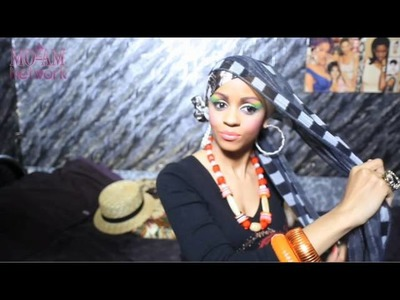 Beautiful Twin Bun Head Wrap Tutorial