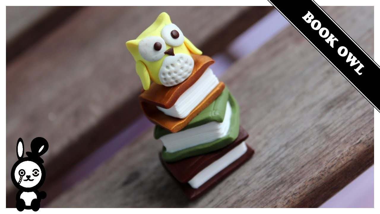 Book Owl (Polymer Clay)