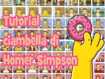 Ciambella di Homer Simpson in Fimo - Homer Simpson's Donut polymer clay tutorial