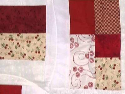 Easy Red & White scrap quilt with Valerie Nesbit