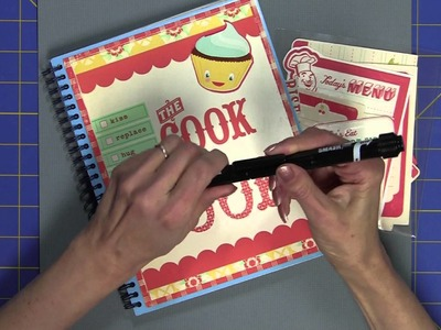Homemade Smash book for Food Lovers - Part Three -  Making  Smash Notes  and More Accessories