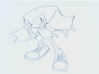 How To Draw Knuckles On Sonic The Hedgehog