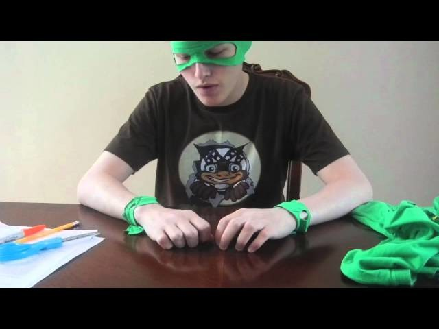How to make a Ninja Costume with reusable.recyclable items!