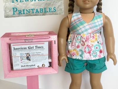 How to make an American Girl Newspaper and Newspaper Stand
