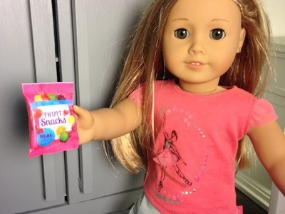 How to make Fruit Snacks for your American Girl Doll
