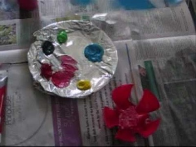 How to make garland and flower suncatcher from plastic bottles