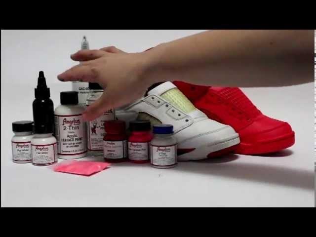 How to paint Solar Red - Red October Jordan 5 KOS Kinofsneakers.com