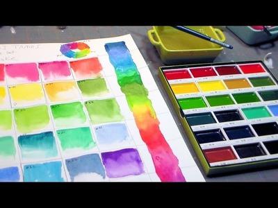 KURETAKE Gansai Tambi Water Colours Set REVIEW & DEMO