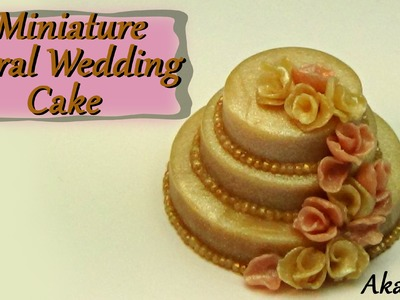 Miniature Floral Wedding Cake - Polymer Clay Tutorial