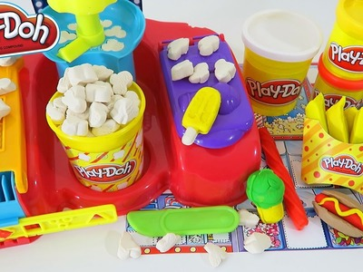 Play Doh Poppin' Movie Snacks Playset Play Dough Toy Unboxing & Review!