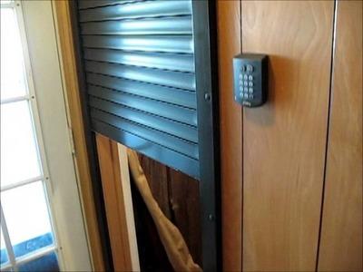 Security Shutter San Antonio for Gun Room or Safe Room keypad entry
