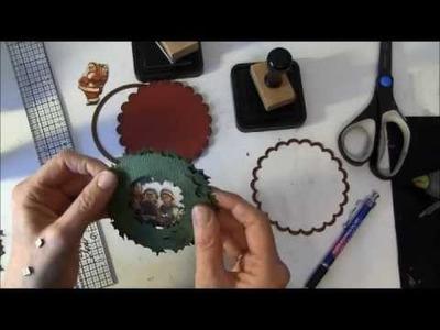 Tim Holtz Holiday wreath circle card tutorial