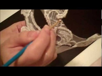 White Lace Masquerade Mask DIY part 1