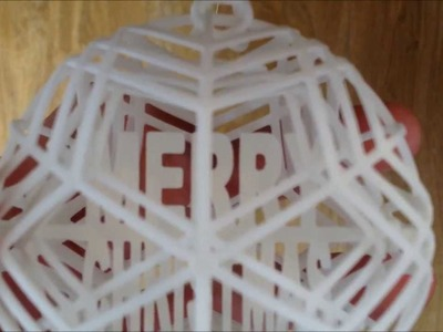 3D Printed Customizable Spinning Bauble Ornament