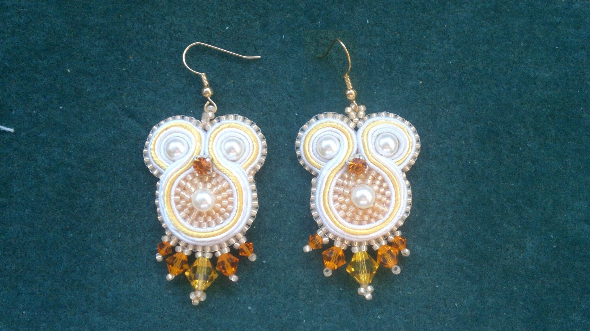 Beading4perfectionists : Soutache #2 : How to add the back and the embellishment tutorial