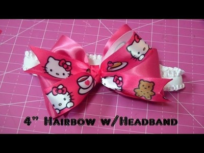 "Bow How To: 4"" Bow with Baby Headband, ft. Bowdabra!"
