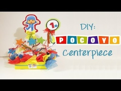DIY: Pocoyo Center Piece with Free Printables (Party Ideas)