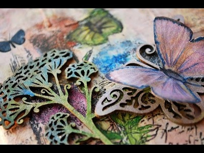 "Fly a Mixed Media Canvas ""Scraps of Darkness"""