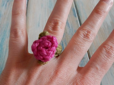 How To Crochet a Rose Ring - Yarn Scrap Friday