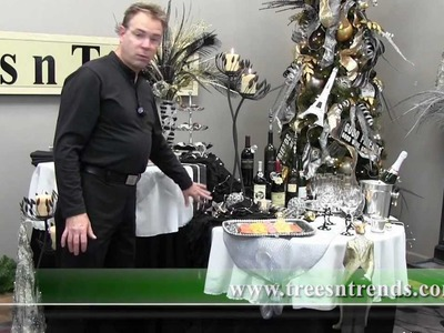 How To Decorate a New Years Party Table - Trees n Trends - Unique Home Decor
