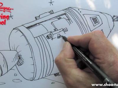 How to draw a NASA Apollo spacecraft