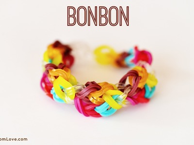 How to Make a Bonbon Rainbow Loom Bracelet