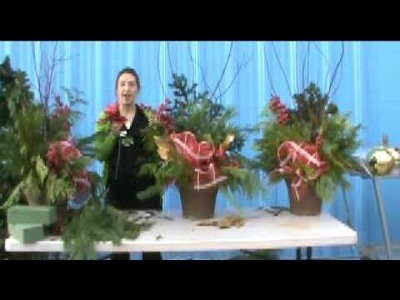 How to Make a Christmas Urn Using Live Greens