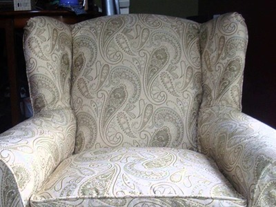 HOW TO : Make a Slipcover for a Wing-Backed Chair