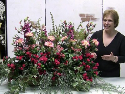 How To Make A Windowbox Arrangement With Silk Flowers