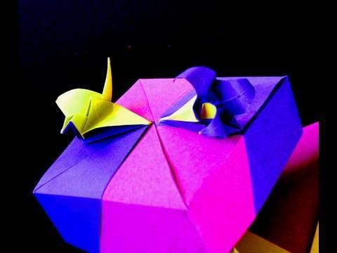 How to make an Origami Crane-Lily Box  Crane Module