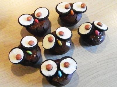 How to make cute Owl-Cupcakes