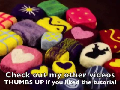 How to make Felted Soap - easy and simple tutorial