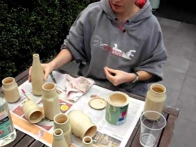 How to paint glass bottles 3