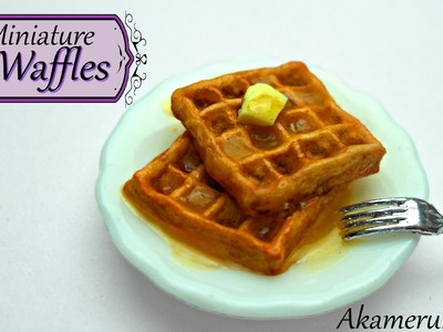 Miniature Waffles - Polymer clay tutorial