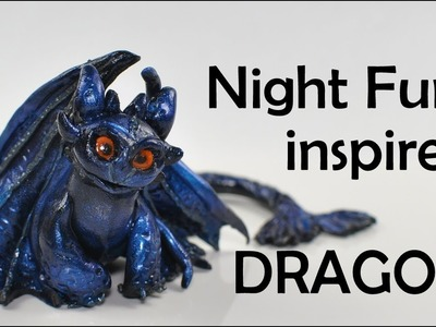 Night Fury (Toothless) inspired DRAGON (polymer clay) TUTORIAL