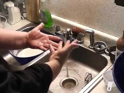 Paper Mache Pumpkins- 5 - Making Paper Clay