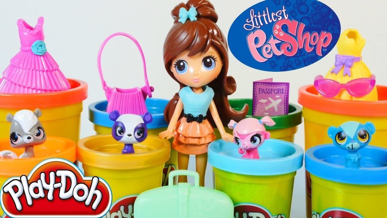 Play Doh Littlest Pet Shop Travel Trendy Blythe & Pets Toys Play Dough World Hasbro