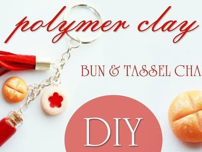 Polymer clay jam bun & tassel charm TUTORIAL - jam keychain PART 1