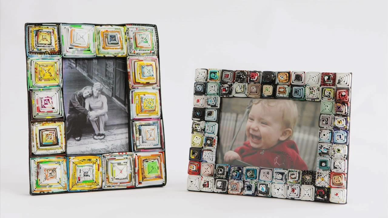 RECYCLED MAGAZINE PICTURE FRAME - www.uncommongoods.com