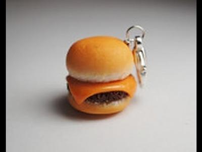 Simple Plain Cheeseburger Tutorial, Polymer Clay Miniature Food Tutorial