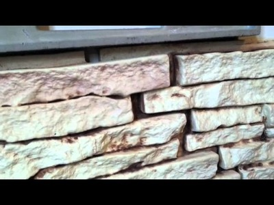 Stacked Stone Master Bedroom